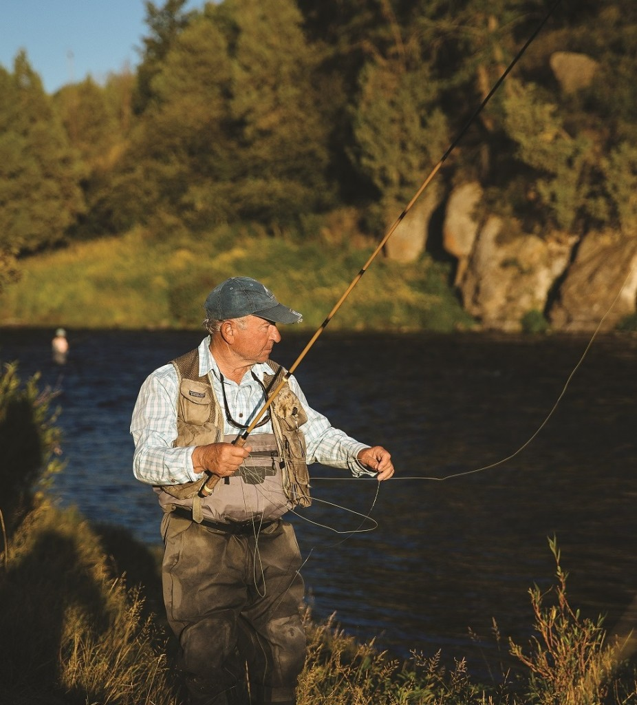Photo rights expire June 1, 2018: Unreel. Yvon keeps things simple when fishing for trout with a tenkara rod in Fall River, Idaho